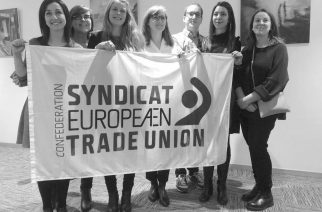 Iz tujine: naša predsednica Tea na čelu mladih evropskih sindikalistk in sindikalistov