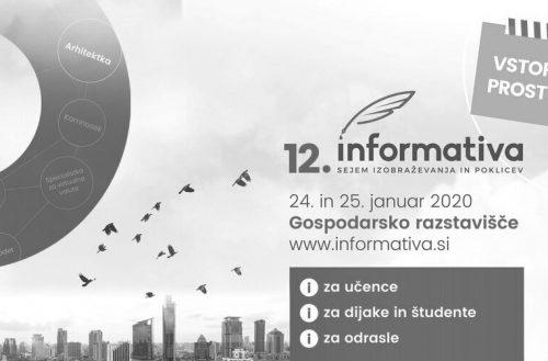 """""""Pomembno o študentskem delu"""" – Obišči nas na Informativi 2020!"""