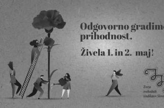 Praznovanje praznika dela na Zvezi svobodnih sindikatov Slovenije