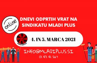 Rezervirajte si 4. in 5. marec! – Prihajata dneva (virtualno) odprtih vrat Sindikata Mladi plus
