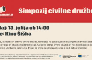 Napovedujemo simpozij civilne družbe! 13. julija v Kinu Šiška