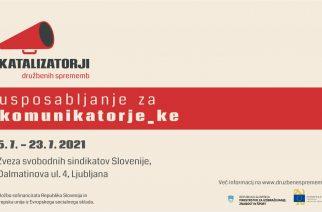 Vabimo na usposabljanje za komunikatorje in komunikatorke! Julija v Ljubljani!