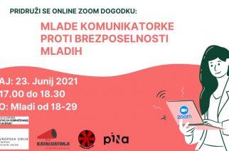 Mlade komunikatorke proti brezposelnosti mladih – Vabimo na spletni dogodek