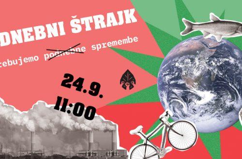 Potrebujemo (ne samo podnebne) spremembe! – Jutri sledi nov podnebni štrajk